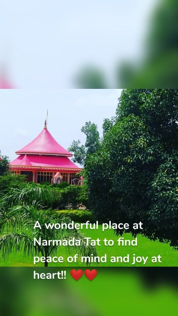 A wonderful place at Narmada Tat to find peace of mind and joy at heart!! ❤️❤️
