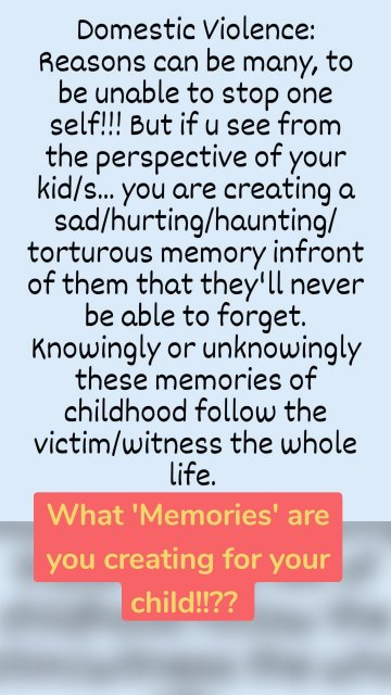 What 'Memories' are you creating for your child!!??